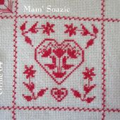 SAL : Plaid Broderie Rouge... Grille 64 / K9 - Chez Mamigoz