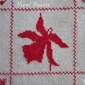 SAL : Plaid Broderie Rouge... Grille 59 / L10 - Chez Mamigoz