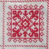 SAL : Plaid Broderie Rouge... Grille 31 / M9 - Chez Mamigoz