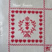 SAL : Plaid Broderie Rouge... Grille 58 / A11 - Chez Mamigoz
