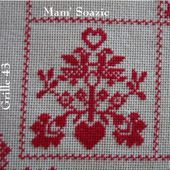 SAL : Plaid Broderie Rouge... Grille 43 / A13 - Chez Mamigoz