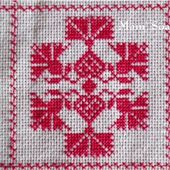 SAL : Plaid Broderie Rouge... Grille 85 / E11 - Chez Mamigoz