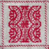 SAL : Plaid Broderie Rouge... Grille 87 / G11 - Chez Mamigoz