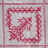 SAL : Plaid Broderie Rouge... Grille 72 / K11 - Chez Mamigoz
