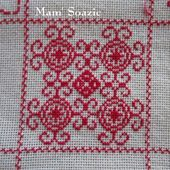 SAL : Plaid Broderie Rouge... Grille 53 / J12 - Chez Mamigoz