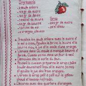 Livre Recettes Brodées de Mamigoz : Gâteau à l'orange de Josy - Chez Mamigoz