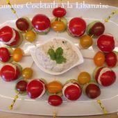 Tomates cocktails à la libanaise du Petit Bistro - Chez Mamigoz