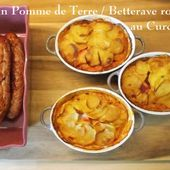 Gratin crémé de Pomme de terre et Betterave Rouge au Curcuma - Chez Mamigoz