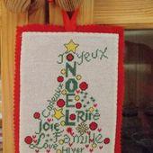 Sapin de Noël : les Mots Doux en bannière - Chez Mamigoz