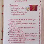 Livre Recettes Brodées de Mamigoz : Crème aux oeufs - Chez Mamigoz