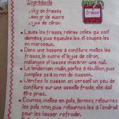 Livre Recettes Brodées de Mamigoz : Confiture de Fraise - Chez Mamigoz