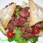 Salade de chèvre chaud aux gesiers de canard