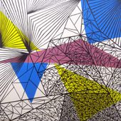 Graphic compositions, acrylic painting - Alice Maynard