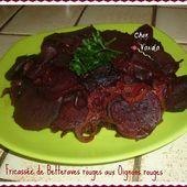 Fricassée de betteraves rouges aux oignons rouges - Chez Vanda