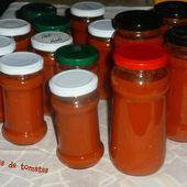 Coulis de tomates en bocaux - Chez Vanda