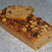 Cake au muesli cranberry gingembre - Chez Vanda