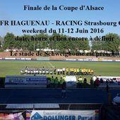 Le FR HAGUENAU en Finale de la Coupe d'Alsace