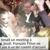 François Fillon et le député maire Claude Sturni enfarinés - Doc de Haguenau
