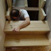095 - Fin de l'escalier, soirée plomberie et établi ! - Rénovation d'une grange en maison d'habitation (grange de Gabillou)