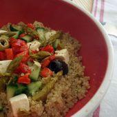 Recette : salade tiède de quinoa méditerranéenne - Les Gralettes
