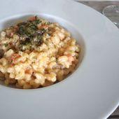 Recette : coquillettes crevettes et cèpes façon risotto - Les Gralettes