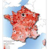 Carte de l'activité ouvrière en France - Chroniques Cartographiques