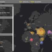 Carte des attaques et attentats perpétrés par les islamistes - Chroniques Cartographiques