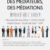 """Table ronde """" Des médiateurs , des médiations"""" , Mercredi 6 Avril 2016 à Clermont Fd - Actualités de la médiation"""