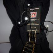 Boucles métal et perles.... - les secrets d'ametyste