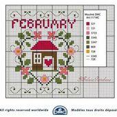 Voilà anche lo schema DMC per il mese di Febbraio - Blog di iltelaiopovolaro.over-blog.it