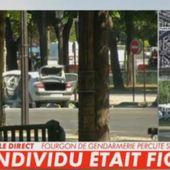 VIDEO = Attaque terroriste sur les Champs-Elysées: Un véhicule contenant une bonbonne de gaz percute une camionnette de gendarmerie et prend feu -- L'homme est mort - MOINS de BIENS PLUS de LIENS