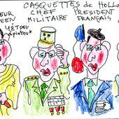 Les casquettes de Hollande - sleazy-caricatures