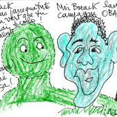Obamagreen - sleazy-caricatures