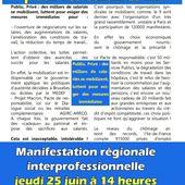 [CGT] URGENCE SALAIRES: Manifestation à PARIS Jeudi 25 Juin 2015