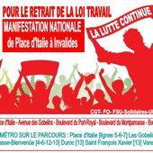 CONTRE LA LOI TRAVAIL: Parcours de la MANIFESTATION Mardi 14 JUIN 2016 à PARIS - Commun COMMUNE [El Diablo]