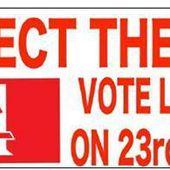BREXIT : Des travailleurs irlandais appellent à voter pour la sortie du Royaume-Uni de l'UE - Commun COMMUNE [El Diablo]