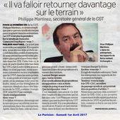 Philippe MARTINEZ (secrétaire général de la CGT) :« Il va falloir retourner davantage sur le terrain »