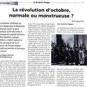 « La Révolution d'OCTOBRE, normale ou monstrueuse? » [un article d'Annie Lacroix-Riz dans le DRAPEAU ROUGE journal du PC de Belgique]
