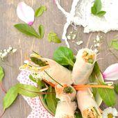Rouleaux de printemps aux asperges vertes - Les recettes de Juliette