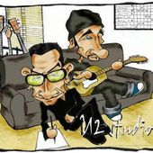 Caricature Bono et The Edge au Studio - U2 BLOG