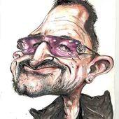 Caricature Bono - U2 BLOG