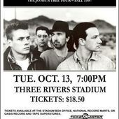 U2 -Affiche concert -Three Rivers Stadium -Pittsburgh -13/10/1987 - U2 BLOG