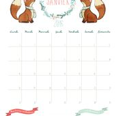 Calendrier 2016 - janvier - free printable - liliaimelenougat