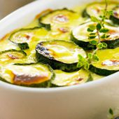 Gratin de courgettes au mascarpone - - cancer - santé - médecines alternatives