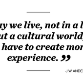 J W ANDERSON / WE HAVE TO CREATE MORE EXPERIENCE !
