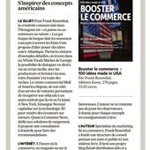 """Booster le commerce"" dans Les Echos - Retail-distribution by Frank Rosenthal"