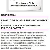Adetem Club distribution : l'impact de Google sur le commerce - Retail-distribution by Frank Rosenthal