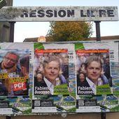 Campagne des régionales : tournée de collage pour les communistes Héninois