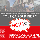 Loi travail : tout ça pour rien ? Non ! Rendez-vous le 15 septembre ! - Le blog de la section d'Hénin-Beaumont du Parti Communiste Français