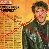 1991/03 - Simé Girard: mon amour pour Roy Dupuis - ROY DUPUIS EUROPE